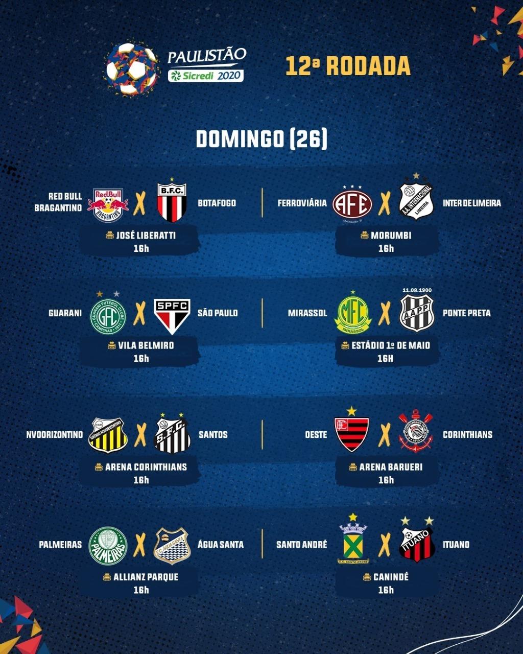 12ª rodada do Campeonato Paulista