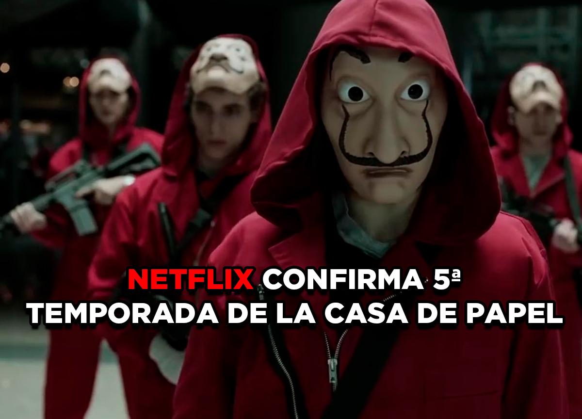 Netflix confirma a quinta temporada de 'La Casa de Papel'