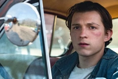 Tom Holland como Arvin Russell. FOTO: https://www.metropoles.com/entretenimento/televisao/veja-as-primeiras-imagens-do-filme-the-devil-all-the-time-com-tom-holland