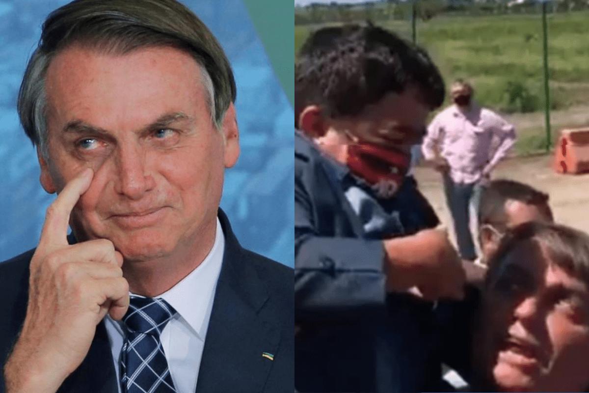 Bolsonaro carrega anão no colo e viraliza na Internet