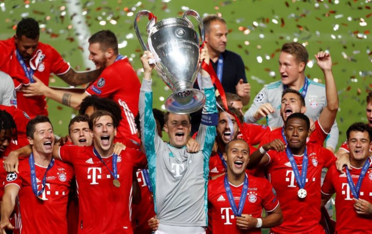 O Bayern de Munique é campeão da Champions League pela sexta vez