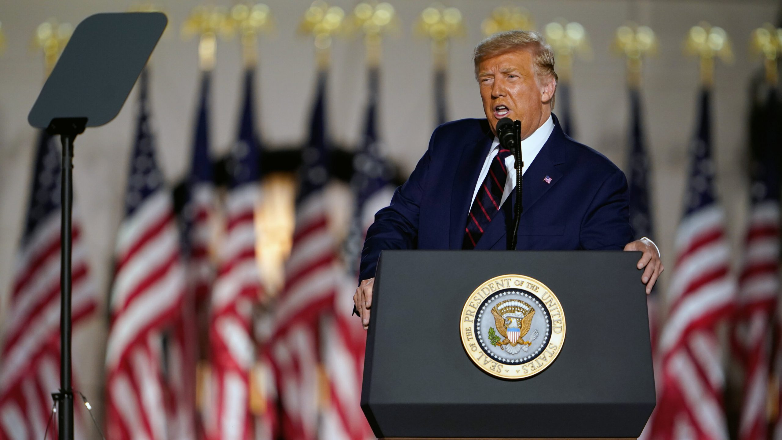 Donald Trump em Convenção Nacional Republicana. FOTO: Doug Mills / NYT