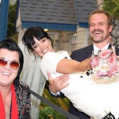 Lily Allen e David Harbour se casaram em Las Vegas. FOTO: Instagram