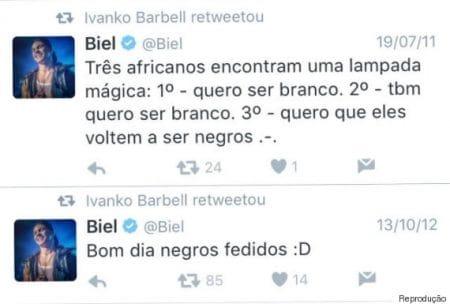 Tweets antigos feito por Biel, atual peão de A Fazenda 12