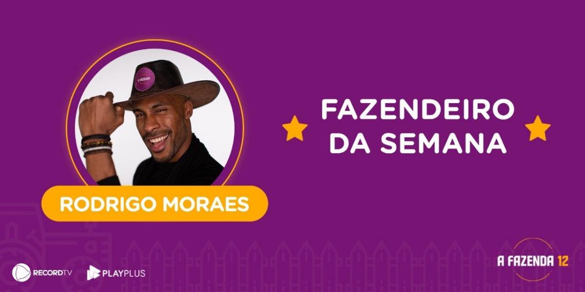 A Fazenda 12: Rodrigo Moraes vence a prova e é o fazendeiro da semana