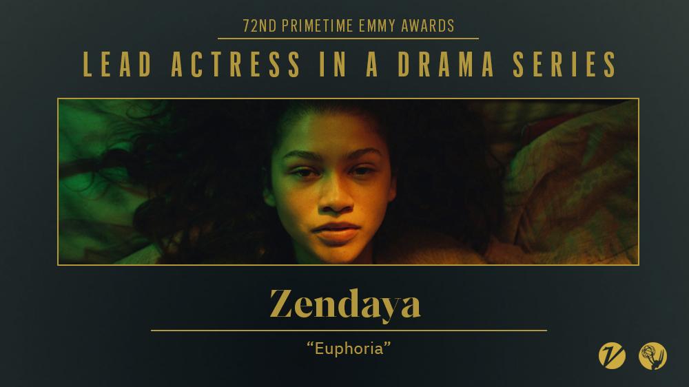 Zendaya ganha Emmy de melhor atriz em série dramática