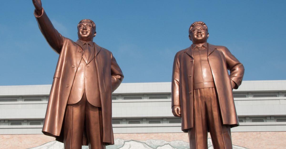 Estátuas de Kim Il-sung e Kim Jong-il