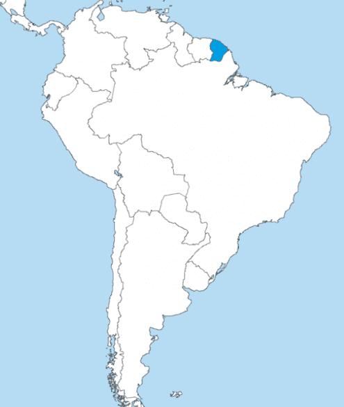 Localização da Guiana Francesa