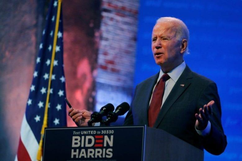 Joe Biden lidera pesquisas presidenciais nacionais. FOTO: Mike Segar / Reuters
