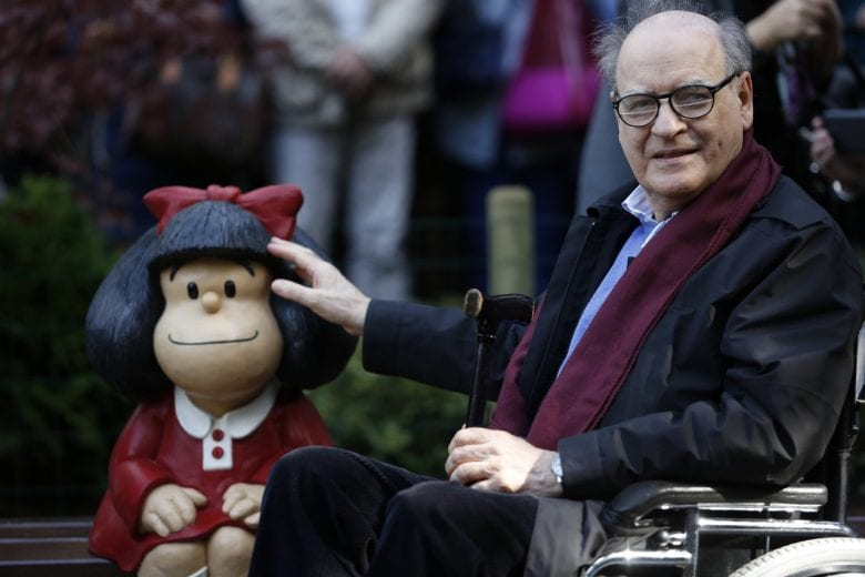 Morre Quino, maior cartunista latino-americano do vigésimo século. FOTO: Getty Images