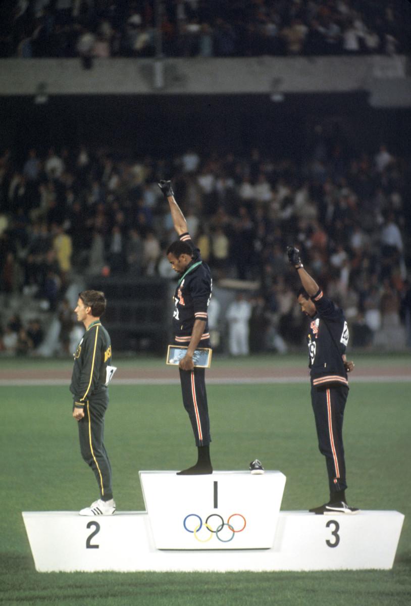 pódio olímpico mais icônico da história