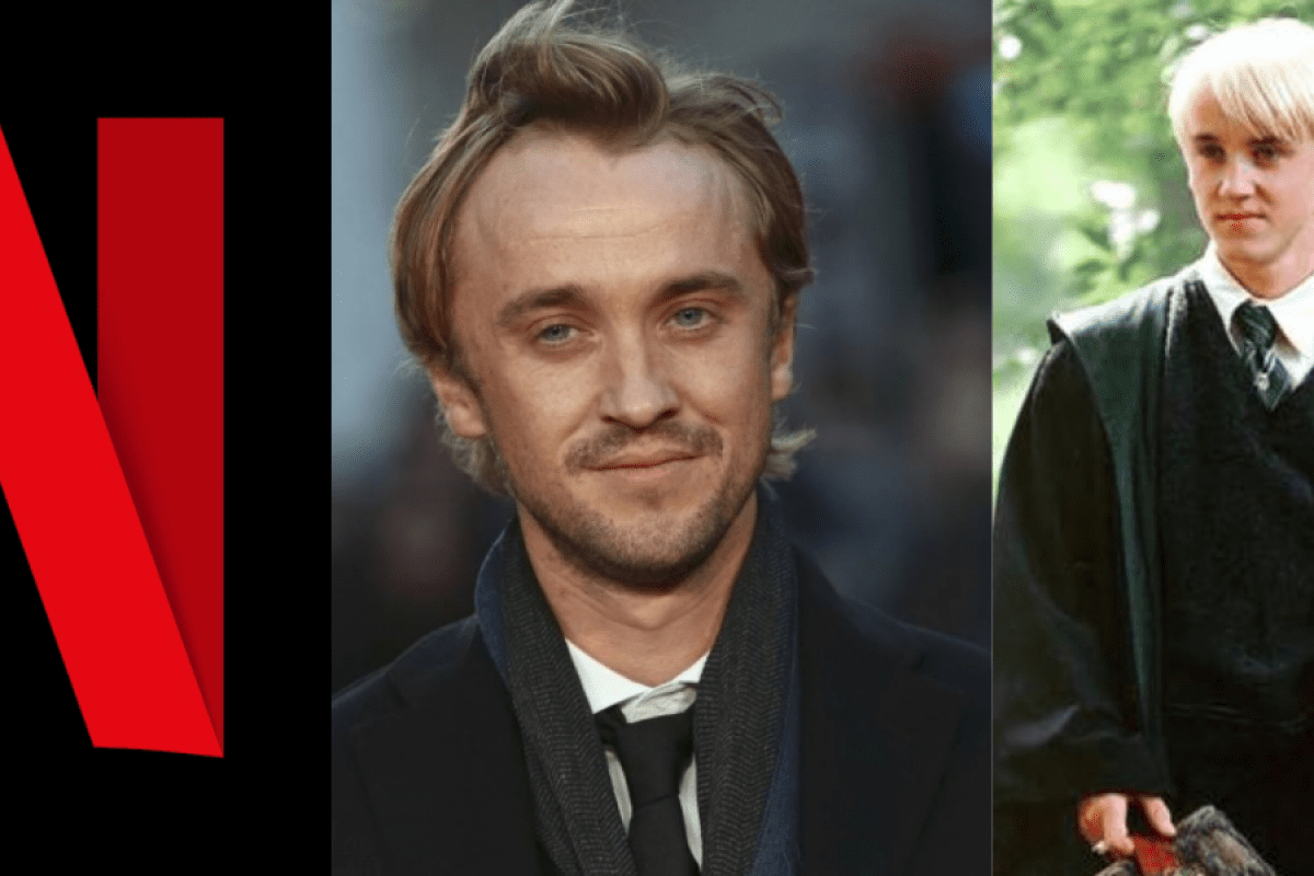 Tom Felton, ator de Draco Malfoy, surge irreconhecível em filme da Netflix