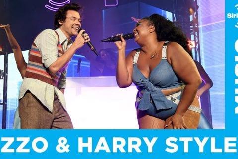Lizzo e Harry Styles para SiriusXM.