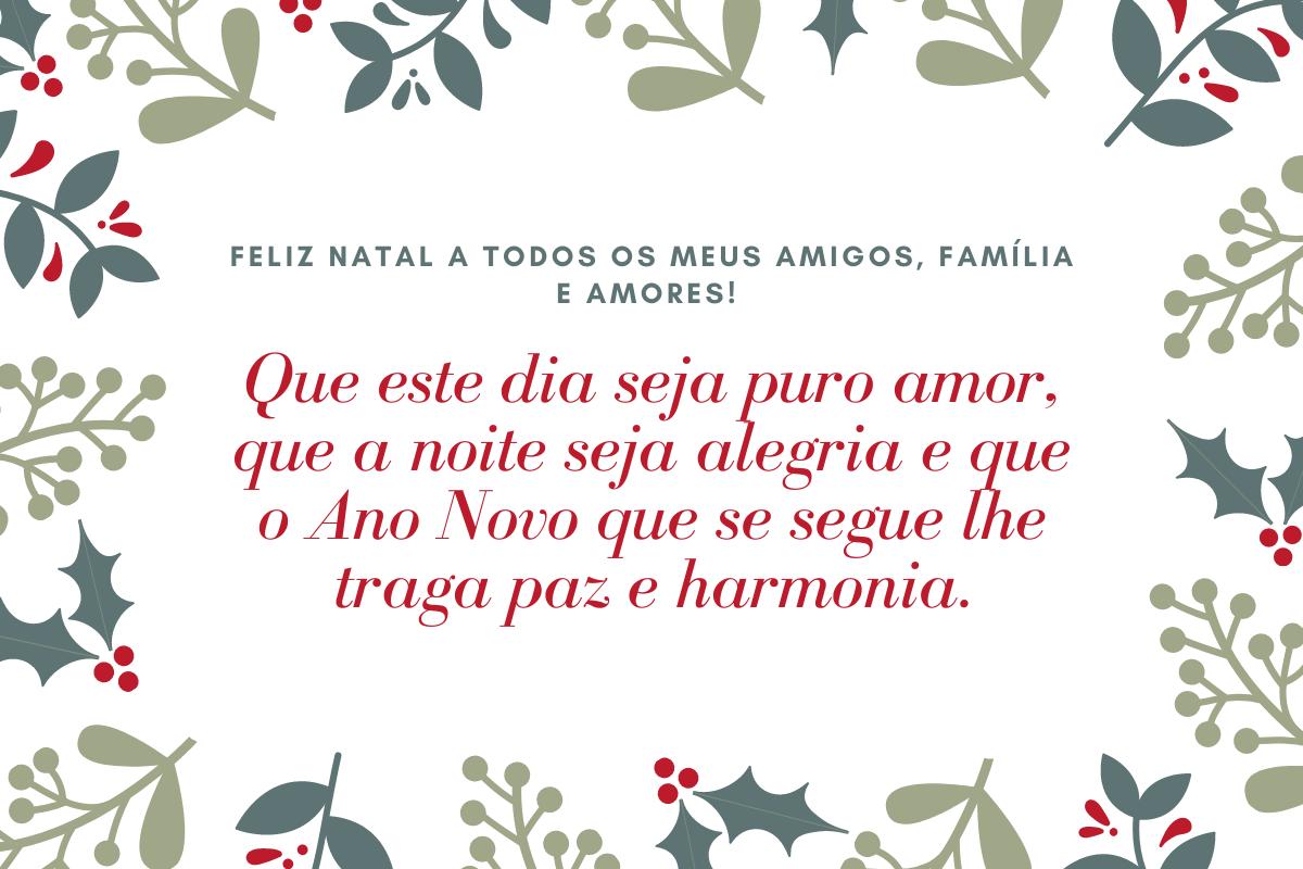 Frases e mensagens de Natal.