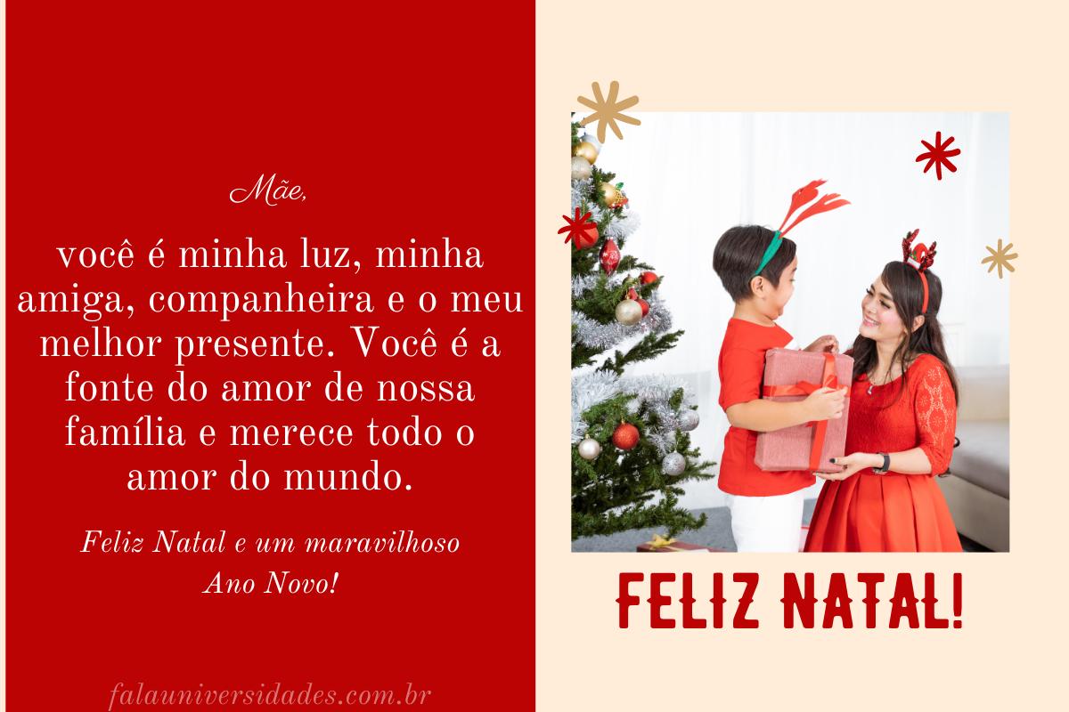 Frases e Mensagens de Natal para Mãe.