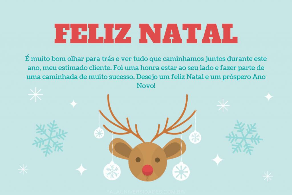 Mensagens lindas de Feliz Nata para os Clientes.