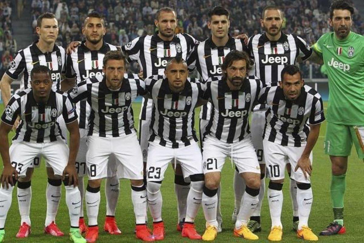 Montagem do elenco da Juventus na temporada 2014/15