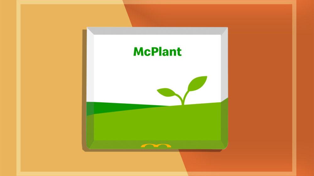 McDonald's oferecerá opção de hambúrguer vegano, McPlant