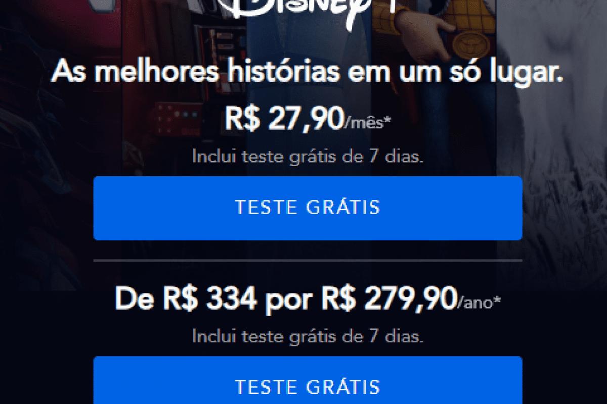 Preços da Disney Plus no Brasil - Foto: Reprodução.