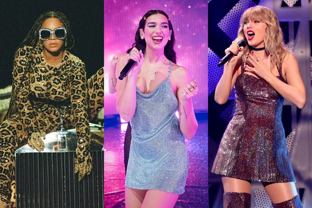 Beyonce, Dua Lipa e Taylor Swift dominam as indicações ao Grammy 2021.