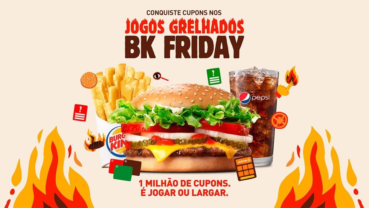 A Black Friday no Burger King está disponibilizando diversos descontos e promoções.