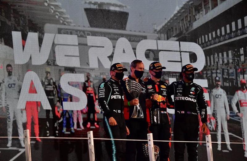 pódio GP de Abu Dhabi
