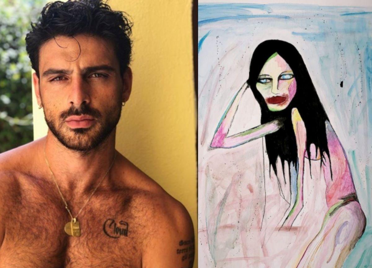 Michele Morrone: além de ator e cantor, italiano também é pintor