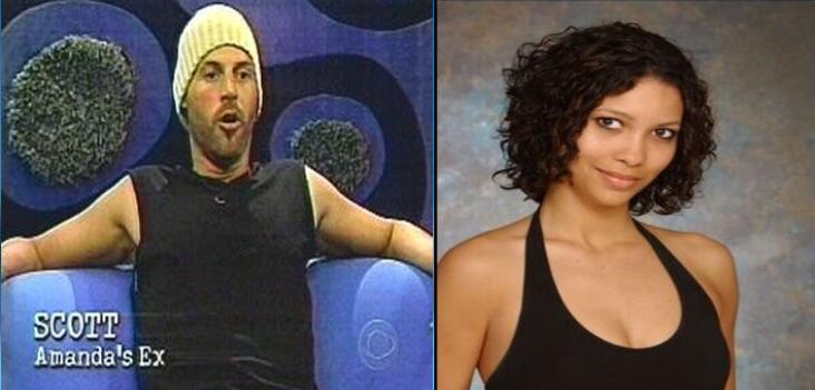 Scott e sua ex namorada, Amanda, entraram na mesma edição do Big Brother USA.