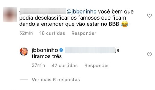 Três participantes foram desclassificados do BBB21, segundo Boninho.