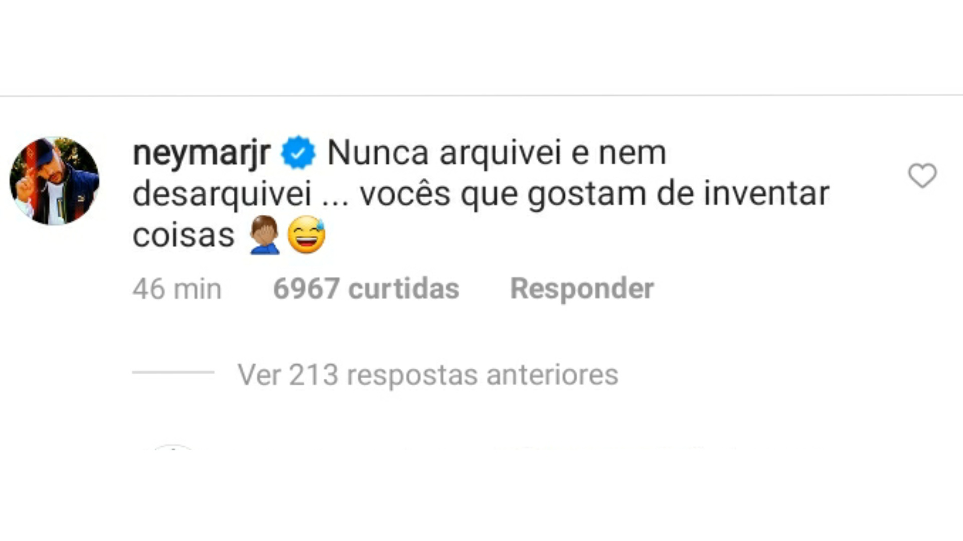 Neymar responde seguidor sobre fotos com Bruna Marquezine.