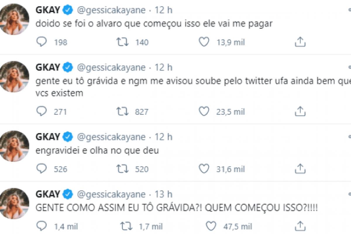 Gkay negou estar grávida do youtuber Rezende.