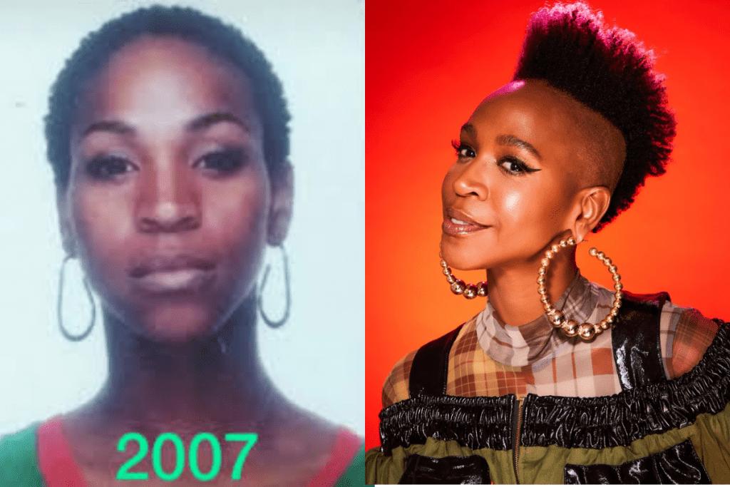 Karol Conká antes e depois