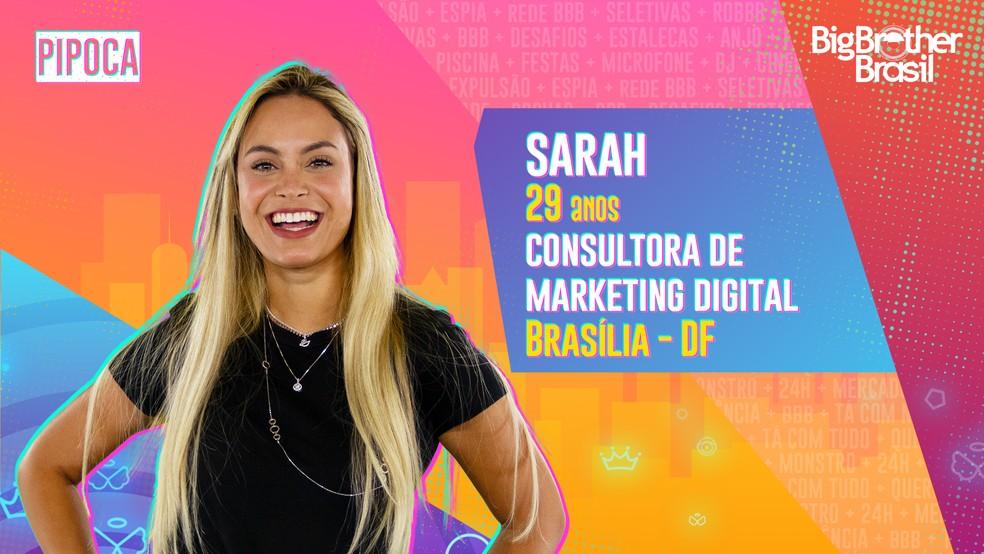 Sarah Andrade é a primeira participante eliminada do BBB21.