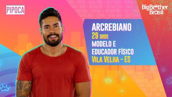 Arcrebiano é o segundo eliminado pelo público no BBB21.