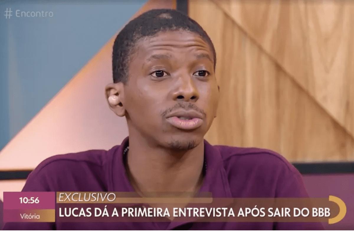 Lucas Penteado conversa com Fátima Bernardes sobre polêmicas do BBB21