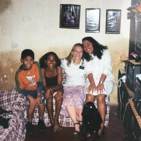 Gilberto com sua família na infância.