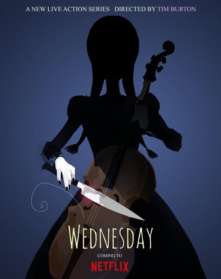 Wednesday é a novra produção original da Netflix.