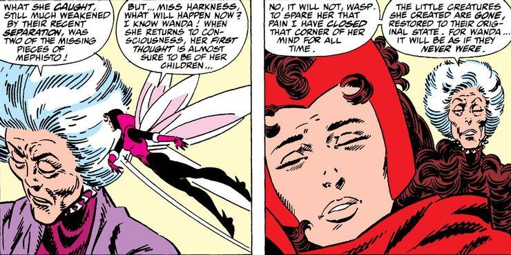 Agatha é a bruxa mais poderosa da Terra e a tutora de Wanda, a Feiticeira Escarlate.