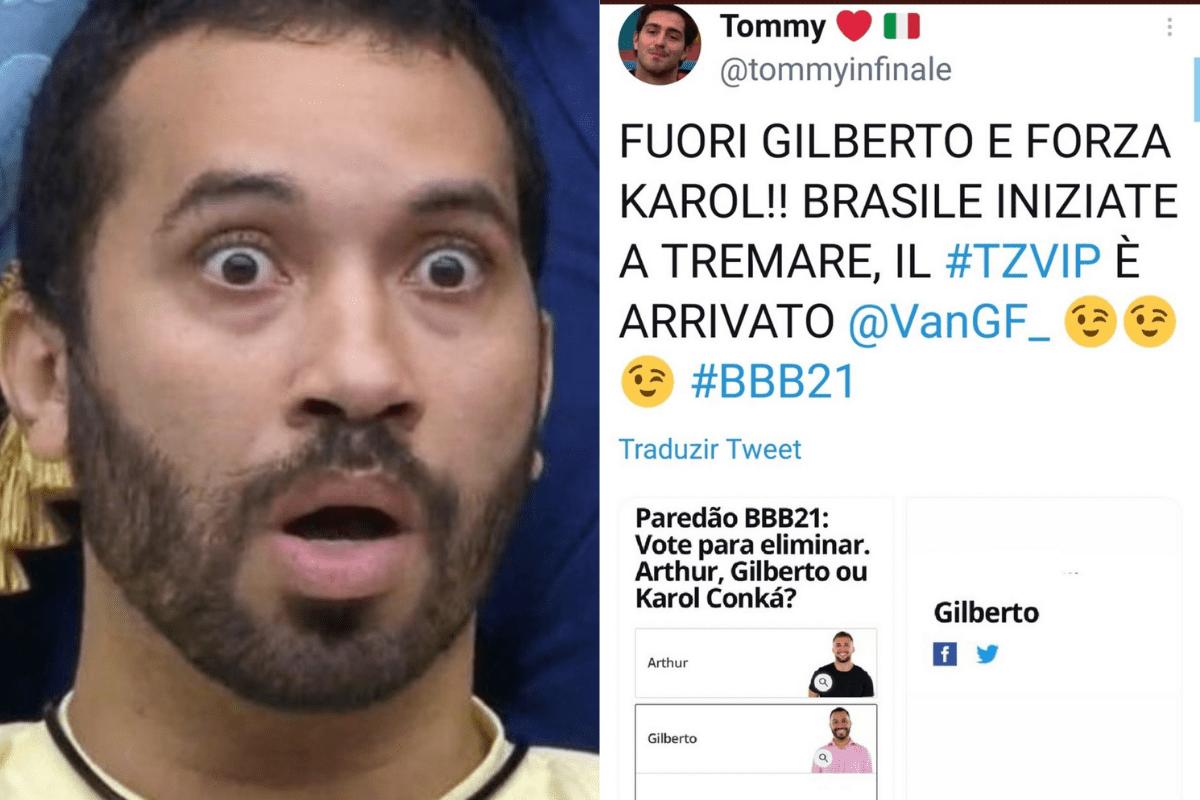 BBB21: Italianos criam campanha para eliminar Gilberto do reality show