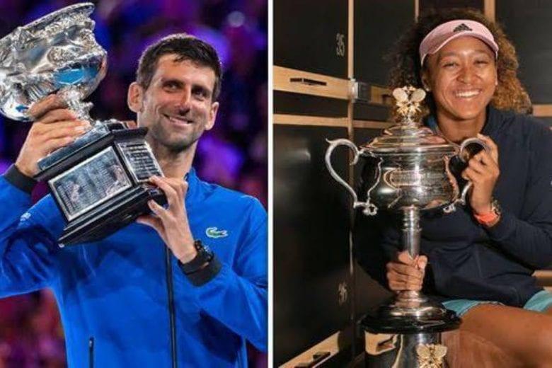 Novak Djokovic e Naomi Osaka