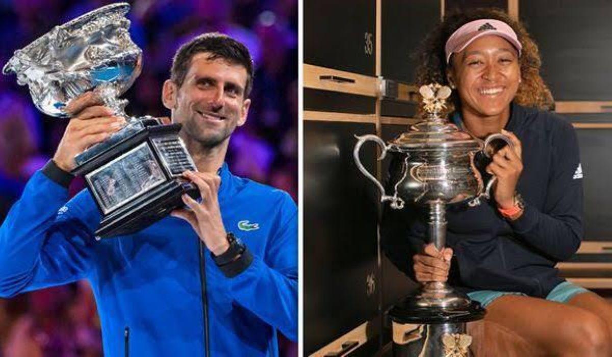 Novak Djokovic e Naomi Osaka: o rei e a rainha do Australian Open