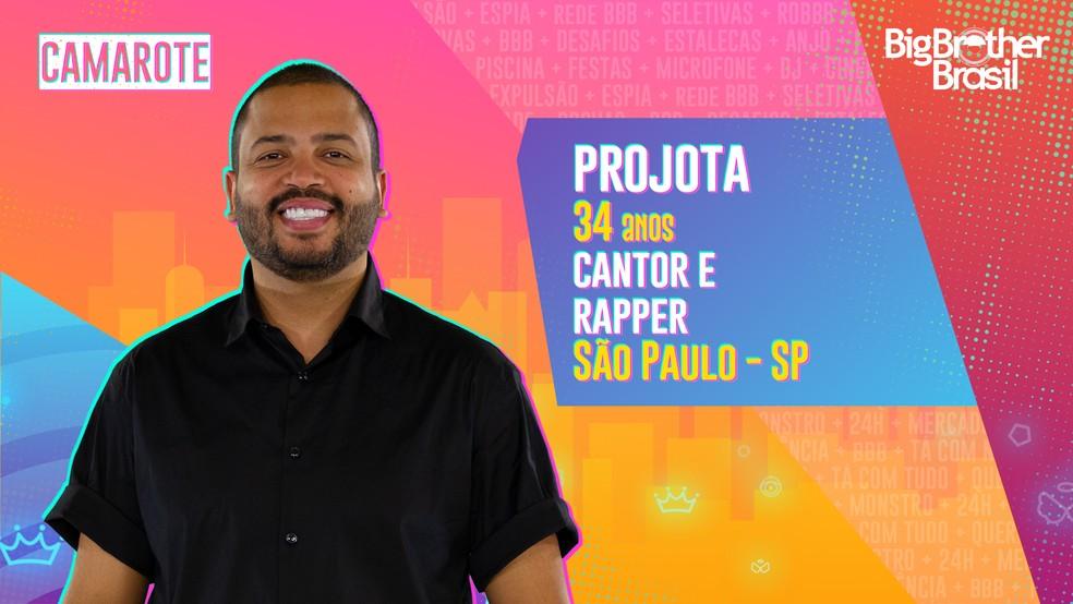 Projota é o quinto eliminado do BBB21.