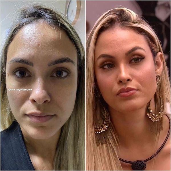 antes e depois sarah bbb