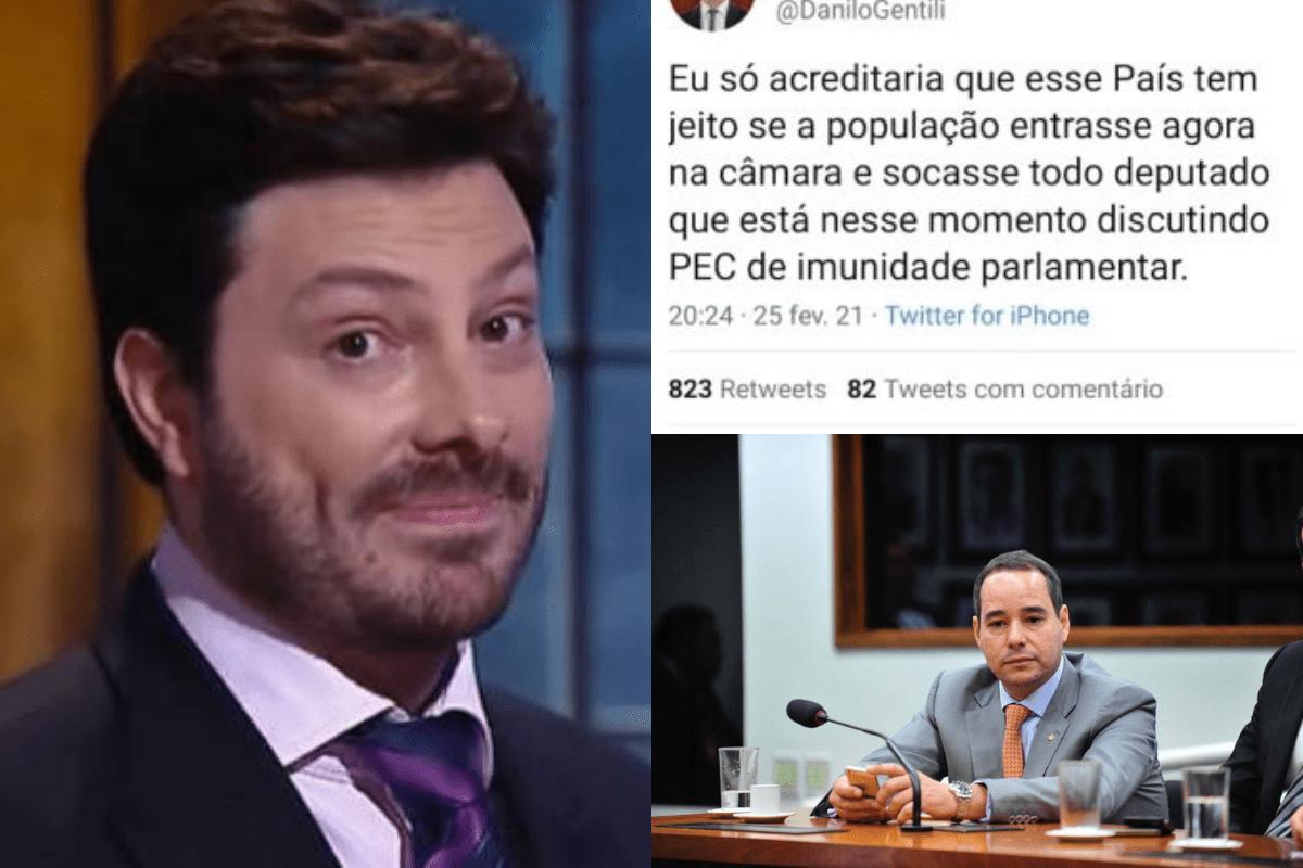 Luis Tibé afirma que tweet de Danilo Gentili foi ofensivo e criminoso.