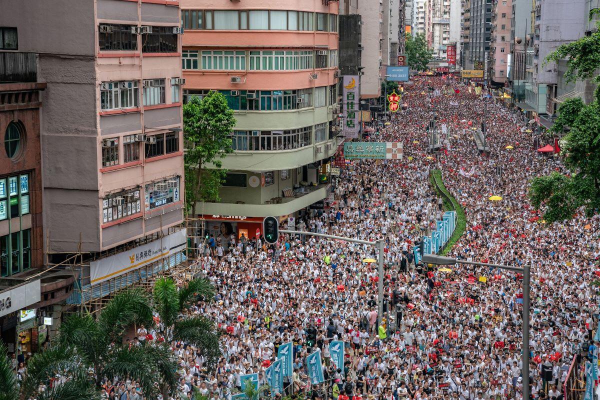 Protestos hong kong