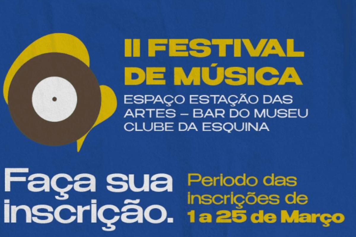 Festival de Música recebe inscrições de músicos e estudantes