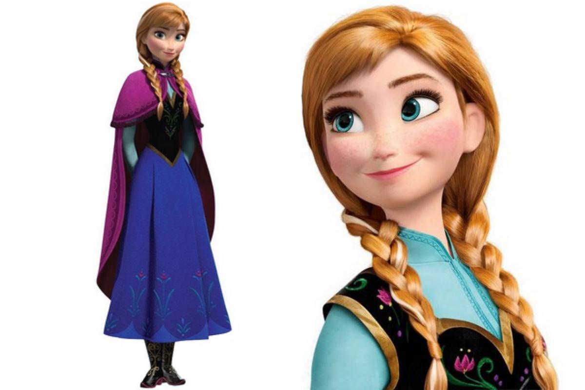 A princesa Anna é a terceira protagonista ruiva da Disney.