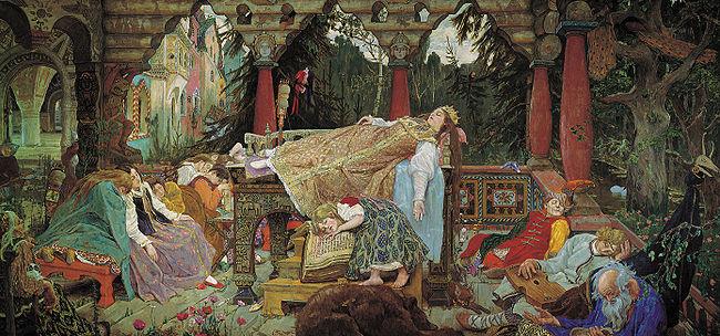 Assim como a princesa, todo o reino caiu no sono profundo.