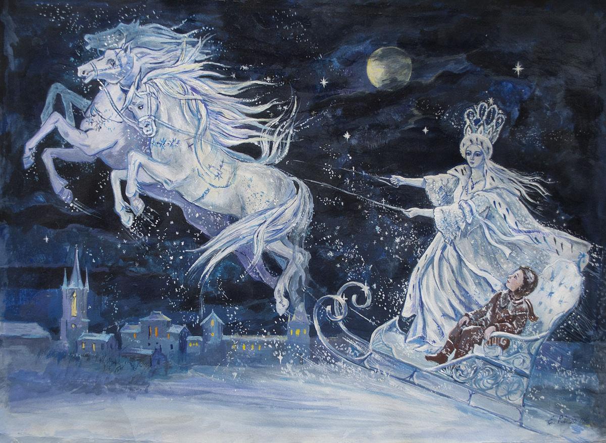 A Rainha da Neve foi a inspiração para a história de Elsa e sua irmã Anna.