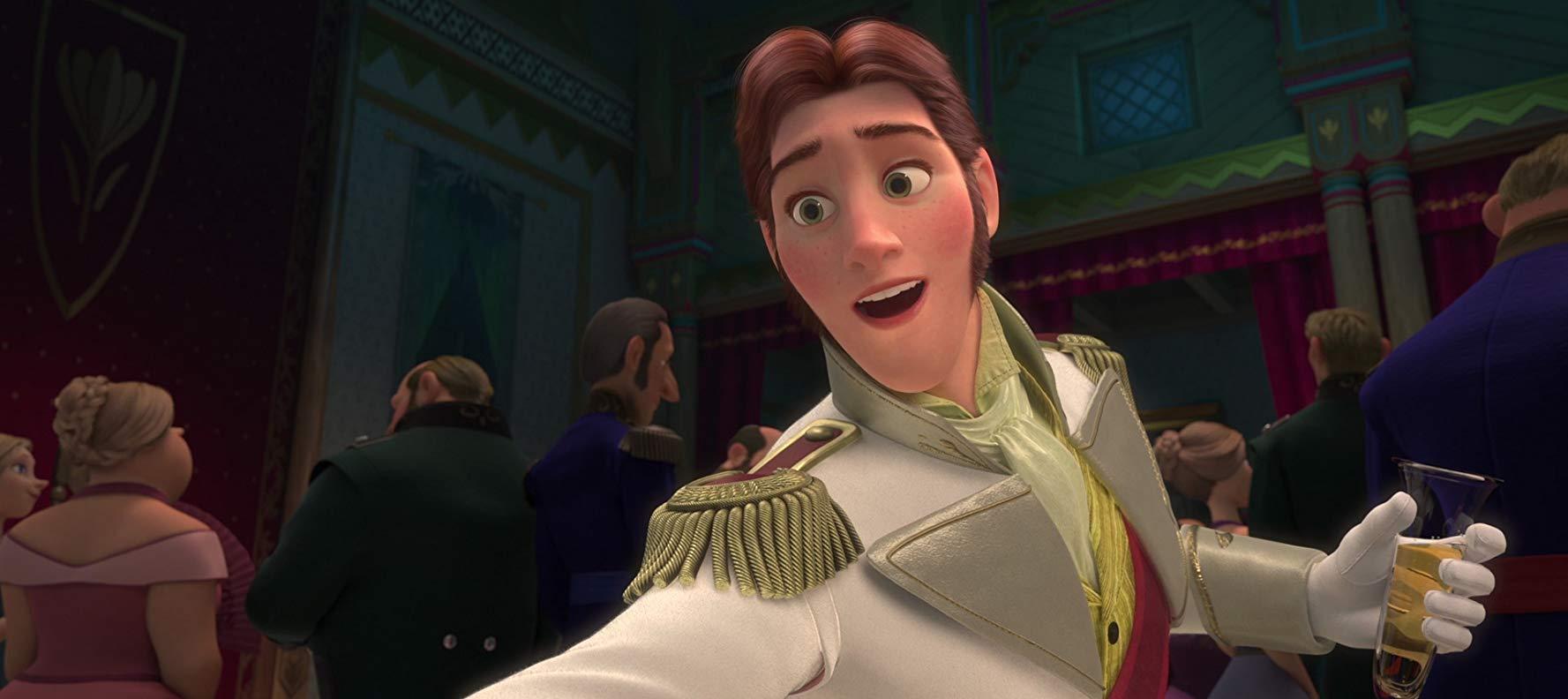 Hans finge estar apaixonado pela Princesa Anna para roubar o trono de Elsa.